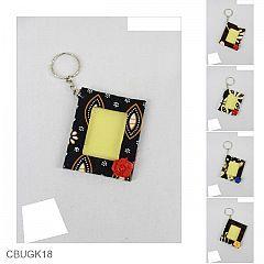 Gantungan Kunci Bingkai Foto Motif Batik Sogan