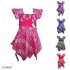 Gaun Batik Anak Prince Motif Parang Kulit Kerang