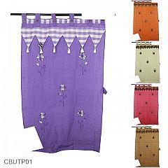 Gorden Pintu Tenun Motif Bunga Bordir Batik