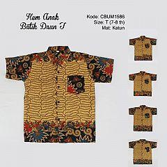 Hem Batik Anak Motif Daun Size T