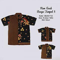 Hem Batik Anak Bunga Tumpal Size 8