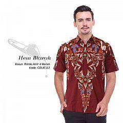 Hem Batik Blarak Motif AHY 4 Merah
