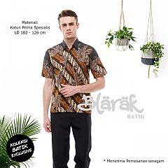(Free Masker) Hem Batik Blarak Motif Lereng Kuning