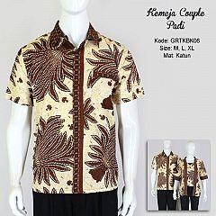 Hem Batik Couple Padi