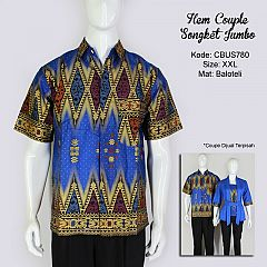Hem Batik Couple Songket XXL