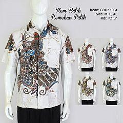 Hem Batik Pendek Remekan Putih 2