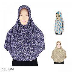 Jilbab Anak Jersey Motif Size 4