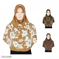 Jilbab Anak Jersey Motif Size 8