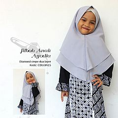Jilbab Anak Syari Ayodia Abu Muda