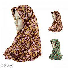 Jilbab Paris Segi Empat Taman Mawar