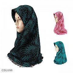 Jilbab Rawis Segiempat DoubleHicon Motif Sparkle
