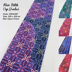 Kain Batik Cap Katun Motif Gradasi Kembang Kawung