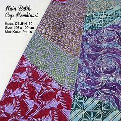Kain Batik Cap Katun Motif Krokot Baris