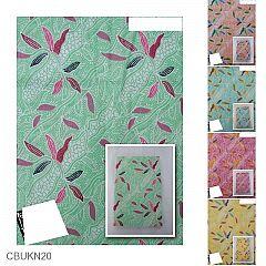 Kain Batik Katun Print Motif Liris Bambu Pastel