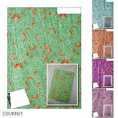 Kain Batik Katun Print Motif Kembang Kipas Cendana