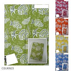 Kain Batik Katun Print Motif Gelembung Parang Ikan
