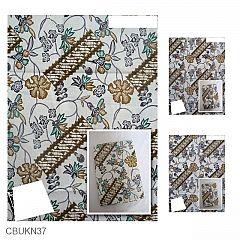 Kain Batik Katun Print Motif Parang Sekar Daun