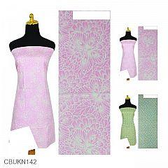 Kain Batik Printing Motif Kawung Kupu-kupu
