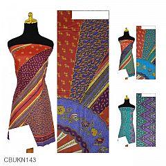 Kain Batik Printing Katun Motif Kipas Zig-zag Beras Wutah