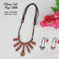 Kalung Tali Tarik Motif Kayu Batik 2