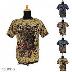 Kaos Batik Motif Wayang Kalimantan
