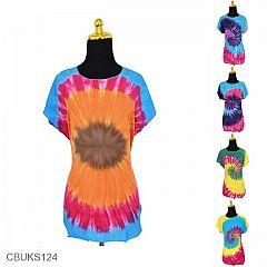 Kaos Batik Motif Pelangi