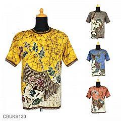 Kaos Batik Motif Coret Abstrak