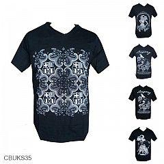 Kaos Cotton Carded Exclusive Motif Batik Bola PROMO
