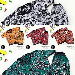 Kaos Setelan Celana Pendek Batik Anak Size 1