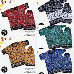 Kaos Setelan Celana Pendek Batik Anak Size 5