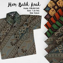 Kemeja Anak Batik Etnik Size 1