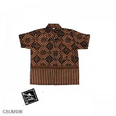 Kemeja Batik Anak Katun Motif Capocino Tumpal