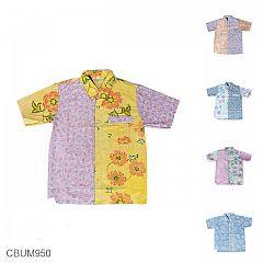 Kemeja Batik Anak Motif Kembang Soft