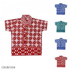 Kemeja Batik Anak Motif Kawung Warna Size 0