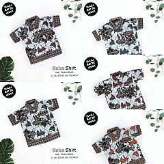 Kemeja Batik Anak Katun Kawung