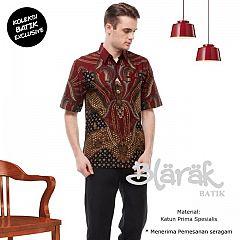 Kemeja Batik Blarak Pendek Padimas Merah
