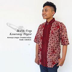 Kemeja Batik Cap Kawung Sigar