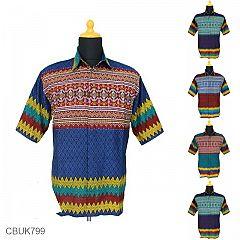 Kemeja Batik Katun Motif Rang Rang Warna