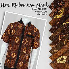 Kemeja Batik Katun  Mataraman Klasik