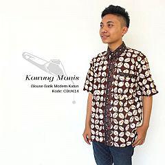 Kemeja Batik Katun Motif Kawung Manis