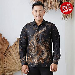 Kemeja Batik Katun Naga Emas