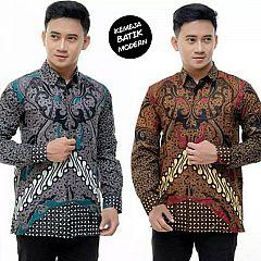 Kemeja Batik Katun Motif seno Mahkota