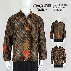 Kemeja Batik Panjang Santoso Klasik