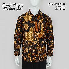 Kemeja Batik Panjang Motif Bunga Jahe