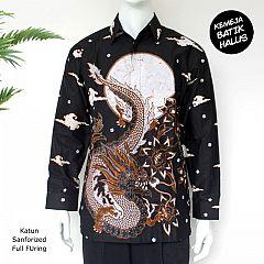 Kemeja Batik Panjang Furing Halus Sanforized Naga Bulan