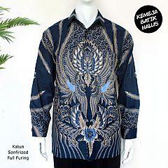 Kemeja Batik Panjang Furing Halus Peksi Navy