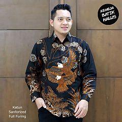 Kemeja Batik Panjang Furing Halus Rajawali Hitam