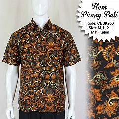 Kemeja Batik Pendek Motif Pisang Bali