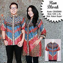 Kemeja Batik Pendek Blarak 9102