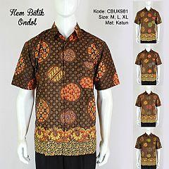 Kemeja Batik Pendek Ondol Klasik